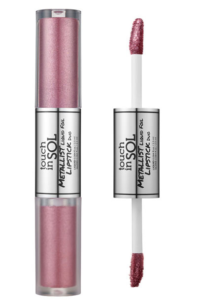 Best Metallic Lipstick Colors: Touch In Sol Metallist Liquid Foil Lipstick Duo in Dyllis