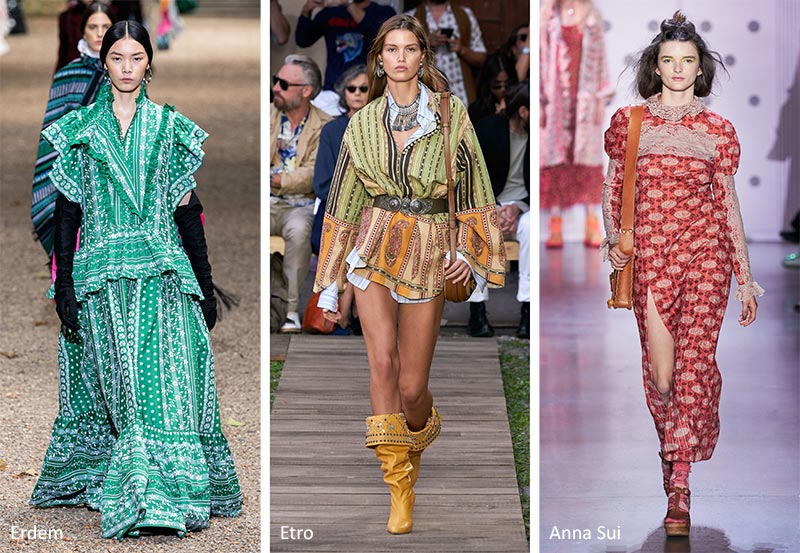 Spring/ Summer 2020 Print Trends: Bohemian Patterns