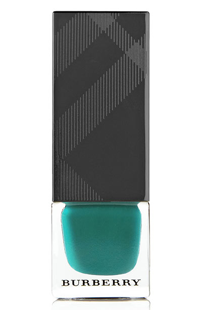 Best Green Nail Polish Colors: Burberry Beauty Nail Polish in Aqua Green