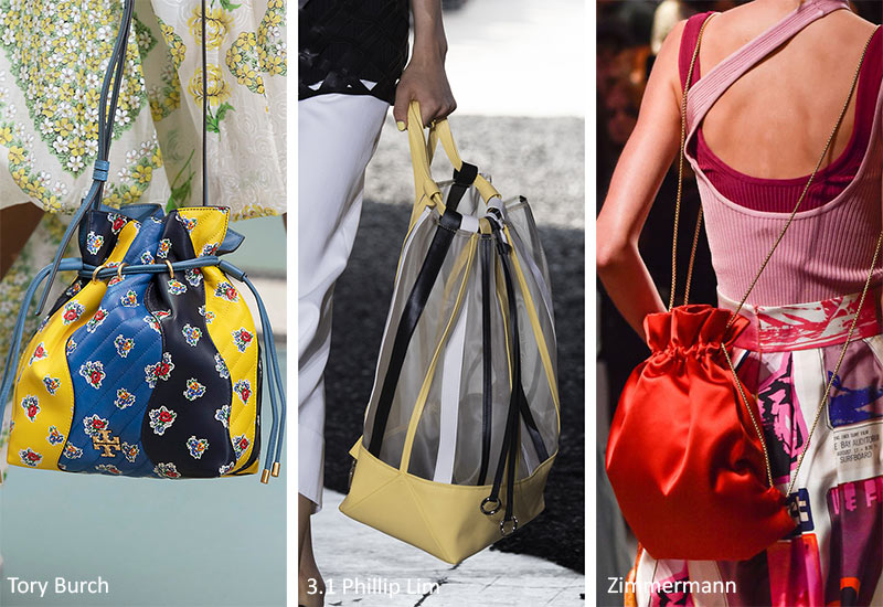 Spring/ Summer 2020 Handbag Trends: Drawstring Bags & Purses