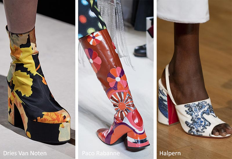 Spring/ Summer 2020 Shoes Trends: Shoes & Sandals with Psychedelic Prints