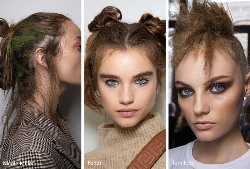 Spring/ Summer 2020 Hair Trends: Messy Updos & Top Knots