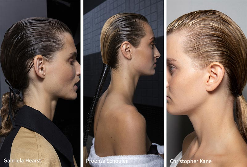 Spring/ Summer 2020 Hair Trends: Pulled-Back Tight Ponytails