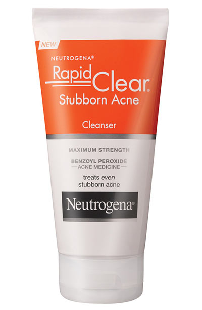 Best Acne Face Wash/ Cleansers for Dry Skin: Neutrogena Rapid Clear Stubborn Acne Cream Cleanser
