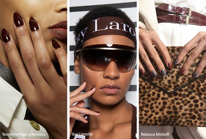 Spring/ Summer 2020 Nail Trends: Wine Red Nails