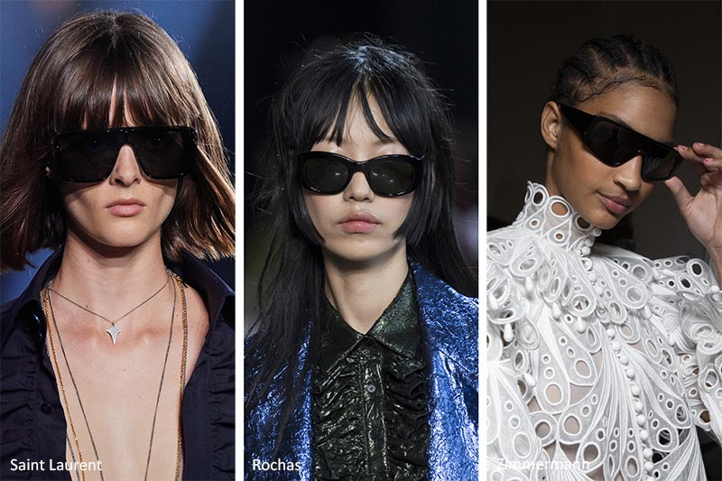 Spring/ Summer 2020 Sunglasses Trends: Black-on-Black Sunglasses