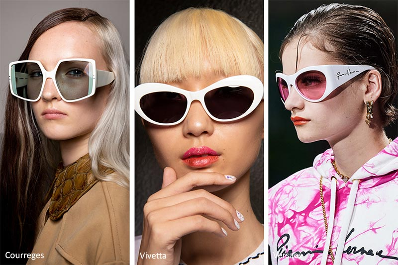 Spring/ Summer 2020 Sunglasses Trends: Sunglasses with White Frames
