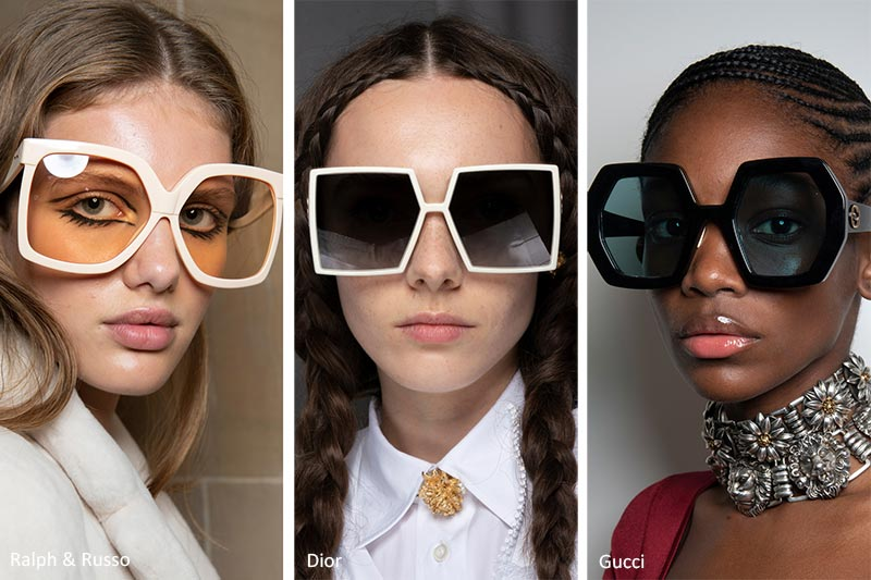 Spring/ Summer 2020 Sunglasses Trends: Unique Oversized Sunglasses