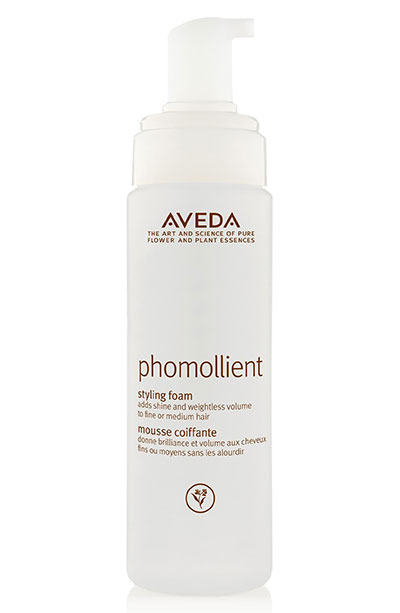 Best Hair Mousse Products: Aveda Phomollient Styling Foam