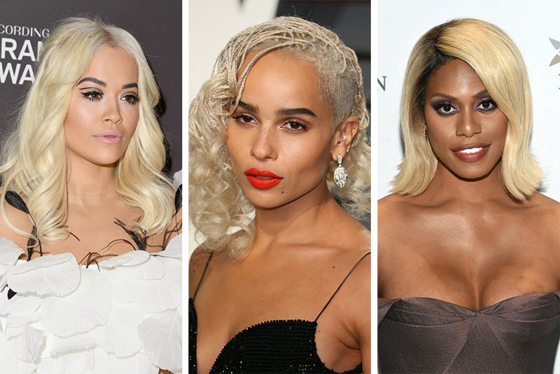 Celebrities Wearing Platinum Blonde Hair Color