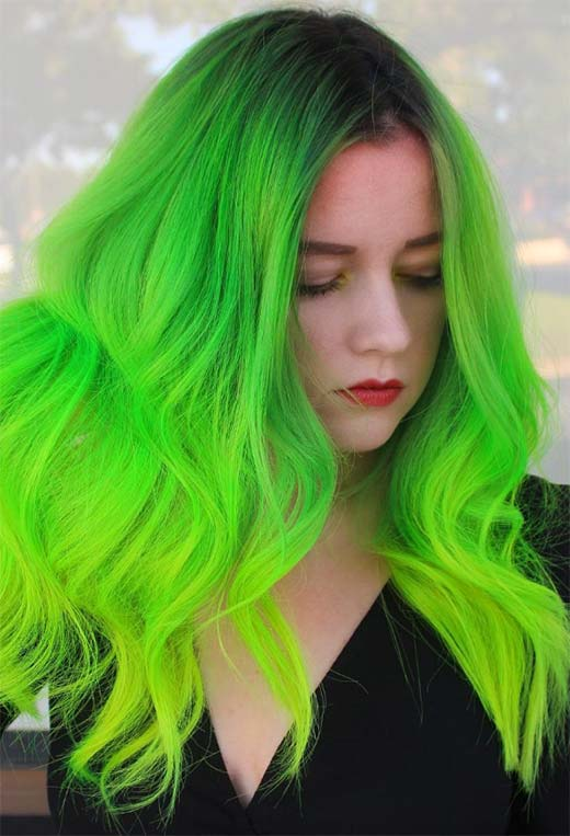 Green Hair Color Shades: Green Hair Dye Tips