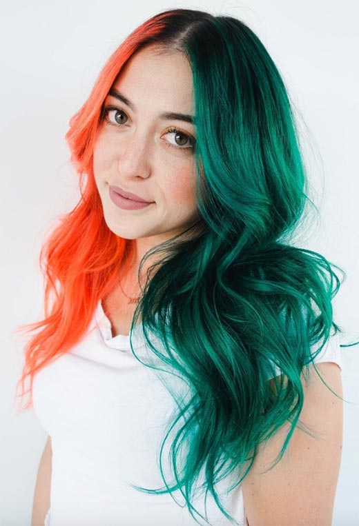 Makeup Tips for Green Hair