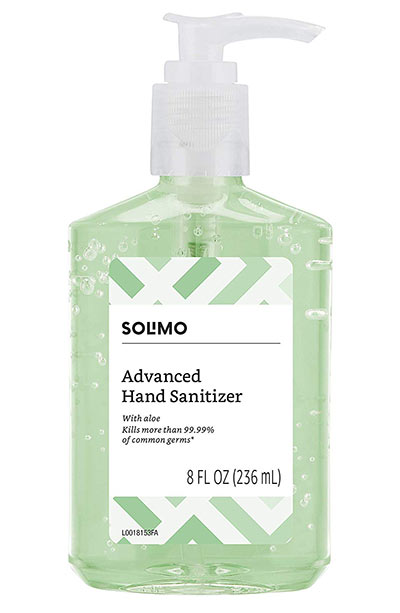 Best Hand Sanitizers: Solimo Hand Sanitizer with Vitamin E and Aloe