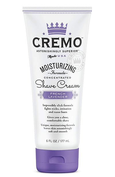 Best Shaving Creams, Gels & Foams for Women: Cremo French Lavender Moisturizing Shave Cream