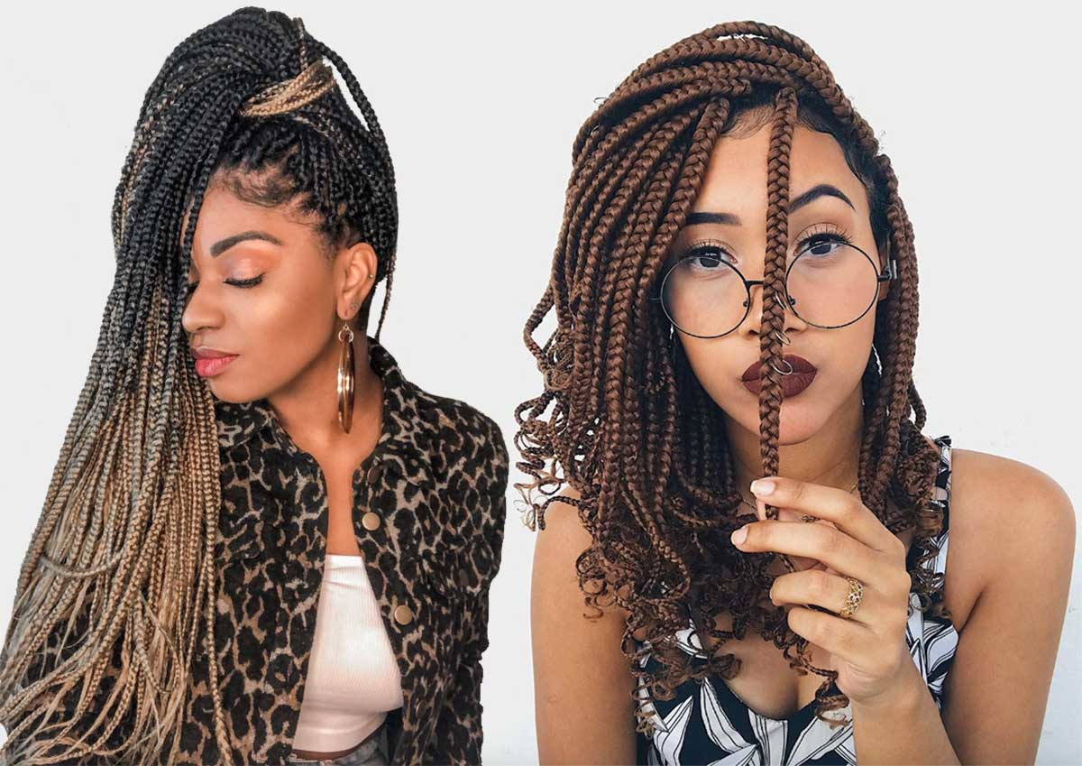 Box Braids Ideas: Box Braid Hairstyles
