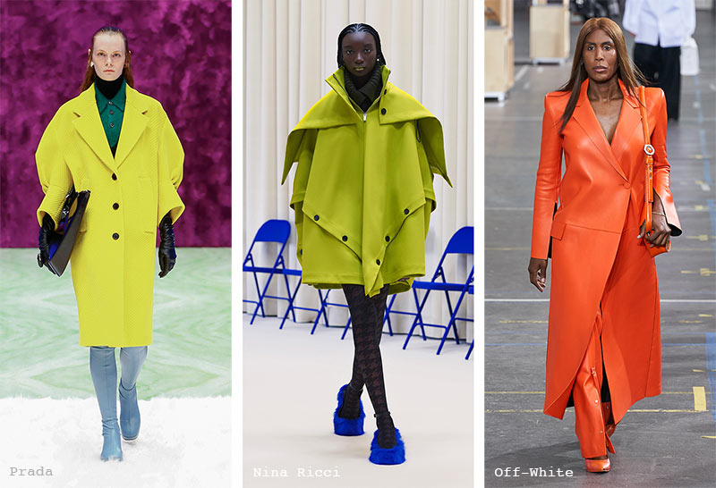 Fall/ Winter 2021-2022 Fashion Trends: Brightly Colored Coats