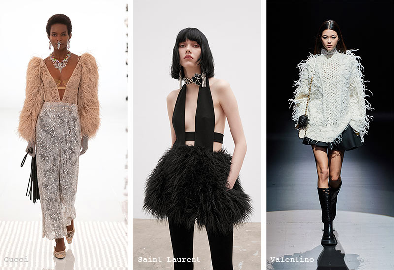 Fall/ Winter 2021-2022 Fashion Trends: Feathers