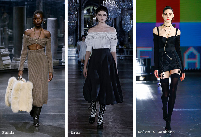 Fall/ Winter 2021-2022 Fashion Trends: Off-the-Shoulder