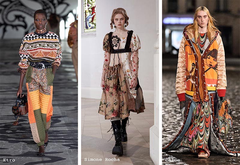 Fall/ Winter 2021-2022 Fashion Trends: Patched Collage Clothes