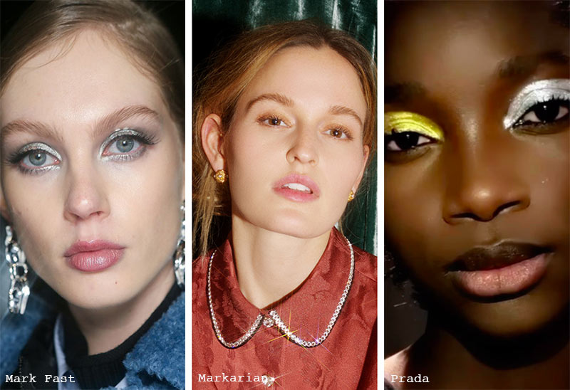 Fall/ Winter 2021-2022 Makeup Trends: Shimmering Eyeshadow