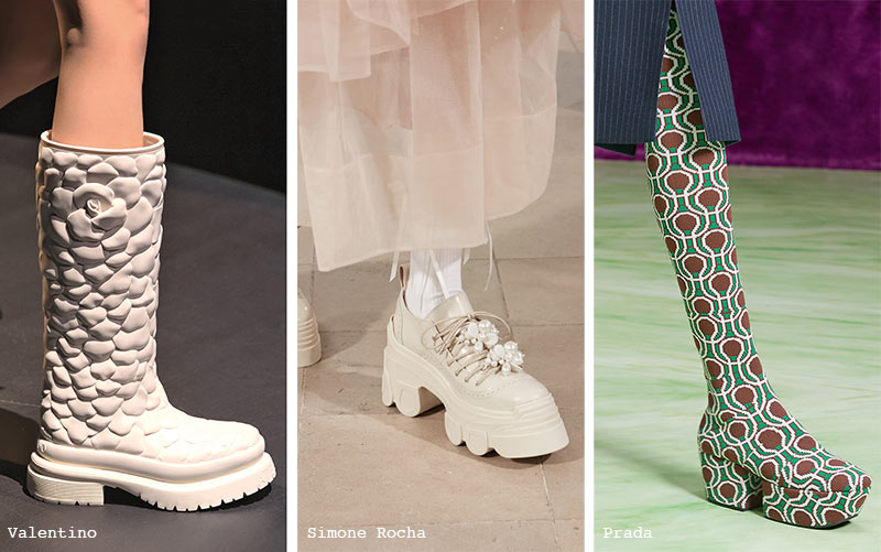 Fall/ Winter 2021-2022 Shoe Trends: Chunky Shoes & Boots