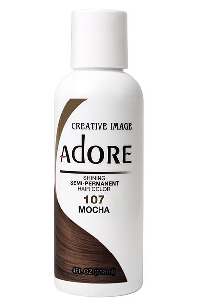 Best Dark Brown Hair Dye Kits: Adore Semi-Permanent Haircolor in #107 Mocha