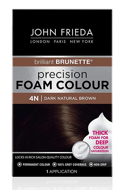Best Dark Brown Hair Dye Kits: John Frieda Precision Foam Colour in Dark Natural Brown 4N
