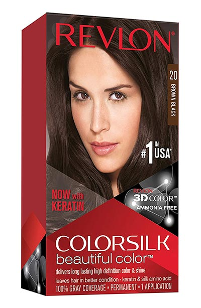 Best Dark Brown Hair Dye Kits: Revlon Colorsilk Beautiful Color, Permanent Hair Dye with Keratin
