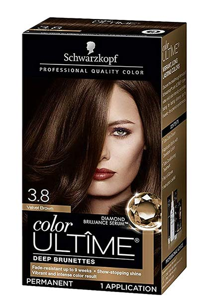 Best Dark Brown Hair Dye Kits: Schwarzkopf Color Ultime Permanent Hair Color Cream in 5.5 Medium Parisian Brown