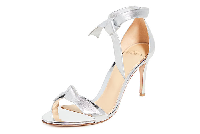 Best Wedding Shoes: Metallic Bridal Shoes: Alexandre Birman Clarita Sandals