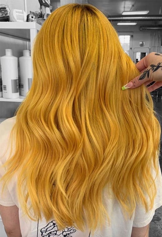 Fashion Tips for Yellow Hair Color