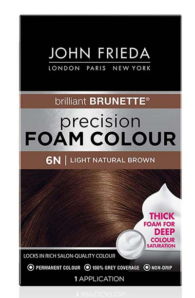 Light Brown Hair Dye Kits: John Frieda Precision Foam Colour in Light Natural Brown 6N