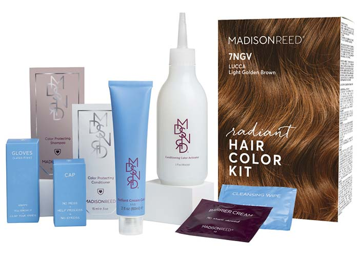 Light Brown Hair Dye Kits: Madison Reed Radiant Hair Color Kit in 7NGV Lucca Light Brown
