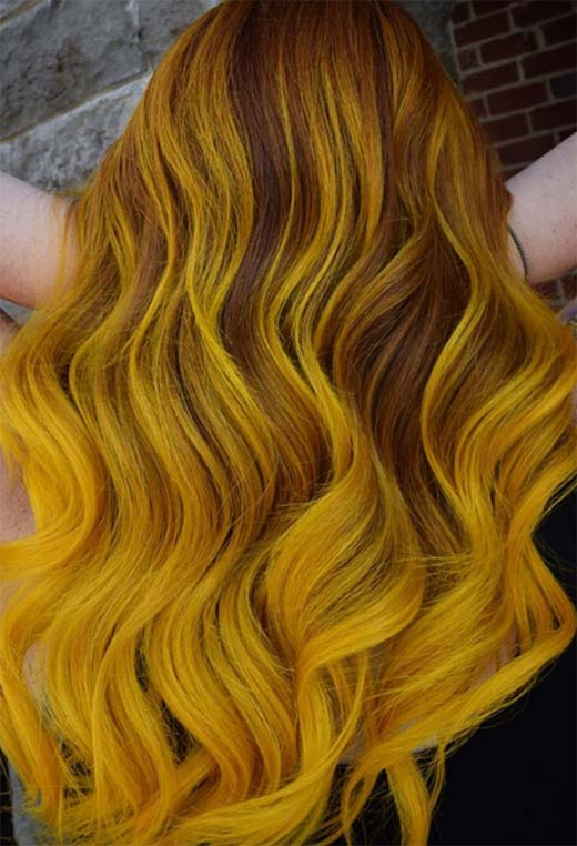 Yellow Hair Color Shades: Yellow Hair Dye Tips