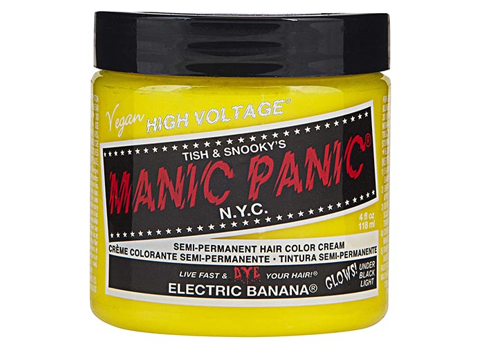 Best Yellow Hair Dye Kits: Manic Panic Semi-Permanent Hair Color in Electric Banana