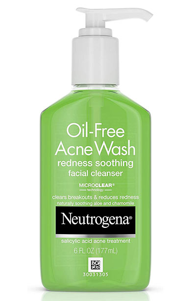 Best Drugstore Face Wash/ Cleansers: Neutrogena Oil-Free Acne and Redness Facial Cleanser