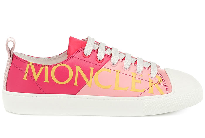 Best Pink Sneakers & Trainers for Women: Moncler Linda Leather Sneakers