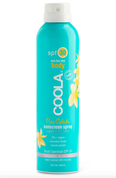 Best Sunscreens for Oily Skin: Coola Suncare Sport Sunscreen Spray Broad Spectrum SPF 30