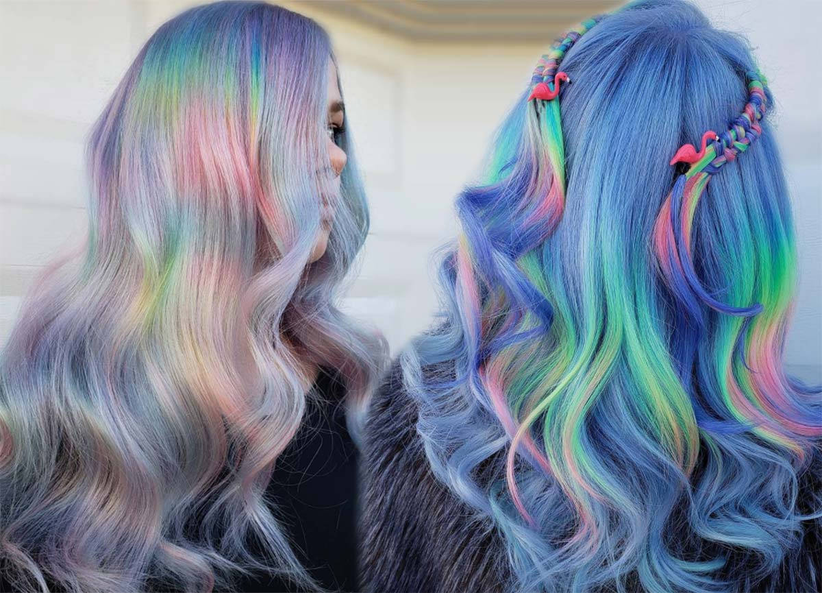 Magical Holographic Hair Color Ideas