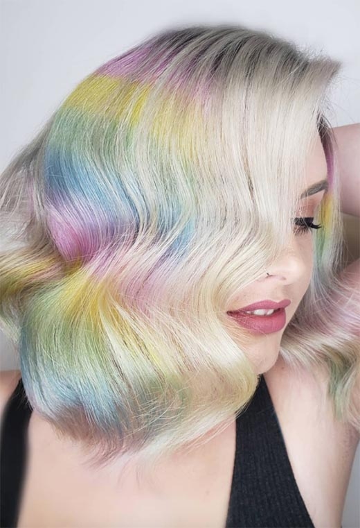 Holographic Hair Color Ideas
