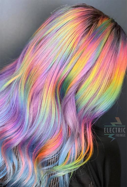 How to Dye Hair a Holographic Color