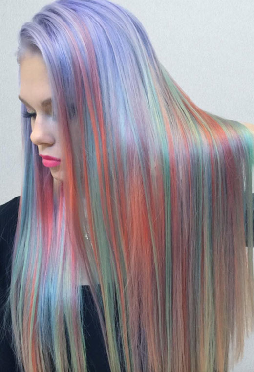How to Maintain Holographic Hair Color