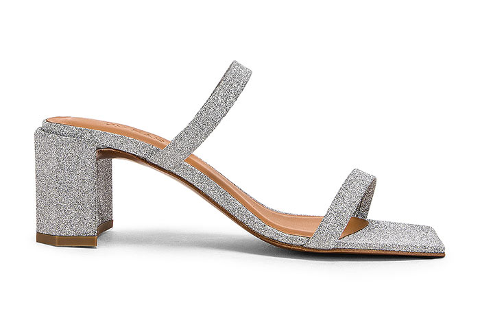 Silver Shoes for Women: By Far Tanya Silver Sandals
