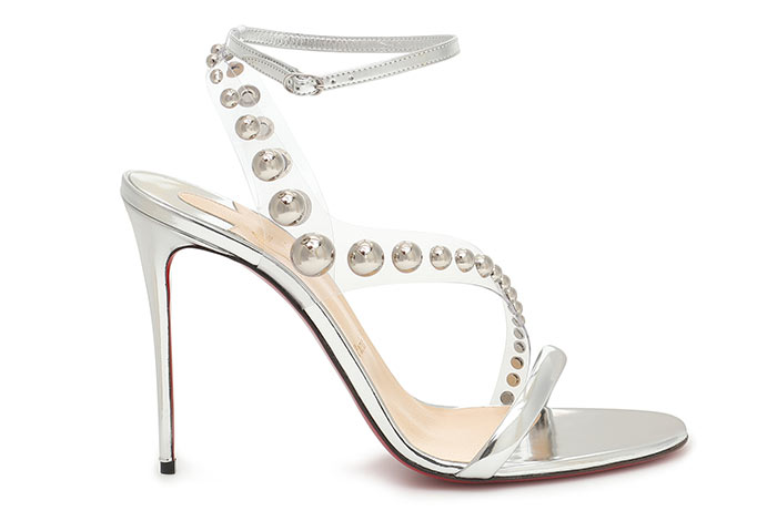 Silver Shoes for Women: Christian Louboutin Corinetta Silver Heels