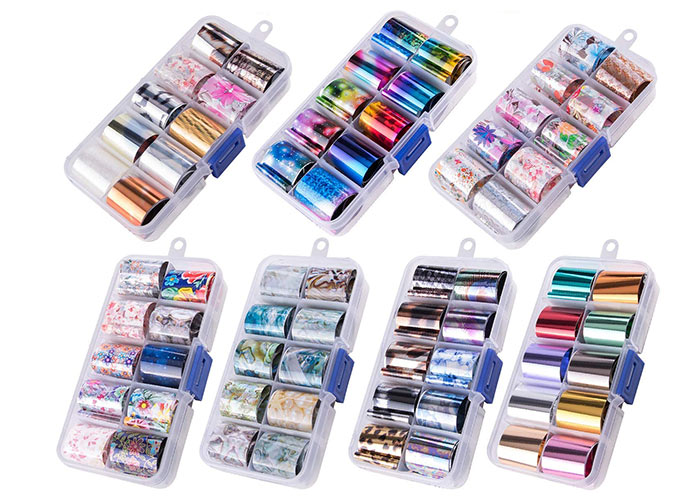 Best Metallic Nail Foils: Duufin 70 Colors Nail Foil Stickers Kit
