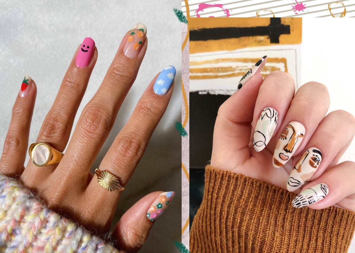 Crazy & Cool Ideas for Long Nail Designs