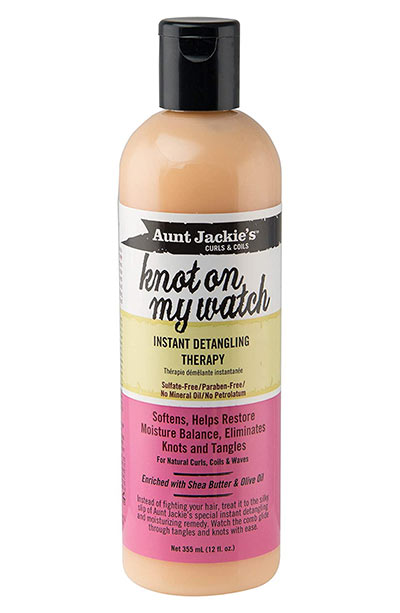 Best Hair Detanglers: Aunt Jackie's Knot On My Watch Instant Leave-in Detangling Therapy